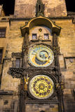 Astronomical Clock Orloj in the Old Square of Prague. Czech Republic Stock Images