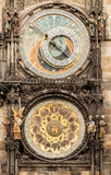 Astronomical Clock Orloj in the Old Square of Prague Royalty Free Stock Photo