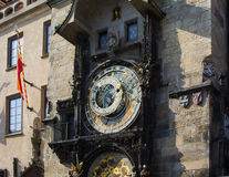 Astronomical Clock (Orloj) in the Old Town of Prague Royalty Free Stock Photography