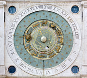 Astronomical Clock in the Piazza dei Signori in Padua Stock Image