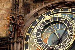 Astronomical Clock In Prague. Fragment of astronomical clock in Prague in Czech Republic Royalty Free Stock Image