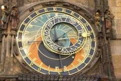 Astronomical clock in Prague. Town hall (Czech Republic Stock Image
