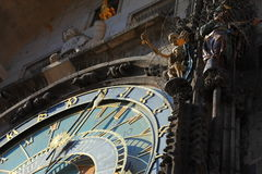 Astronomical Clock- Prague. Astronomical clock of Town Hall on Old Town Square- Prague, Czech Republic Stock Photography