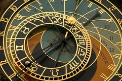 Astronomical Clock- Prague. Astronomical clock of the town hall staromestska radnice on the old town square in the stare mesto neighborhood- prague czech royalty free stock images