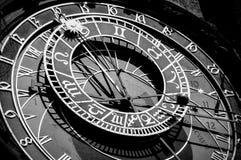 Astronomical clock Prague stock images