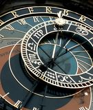 Astronomical clock in Prague. Astronimcal clock in Prague in the Old town square royalty free stock image