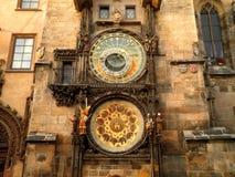Astronomical Clock in Prague. Beautiful building with an astronomical clock in Prague old town Royalty Free Stock Photos