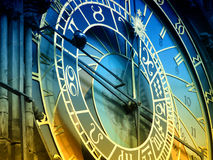 Astronomical clock Prague. Detail of the astronomical clock in Prague, Czech republic Royalty Free Stock Photos