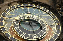 Astronomical Clock Prague Stock Photo