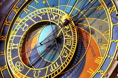 Astronomical clock Prague royalty free stock images
