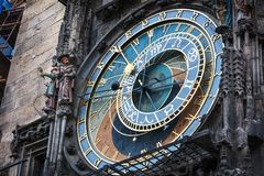 astronomical clock, Prague, Chech republic royalty free stock image