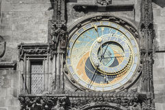Astronomical clock from Prague city, Czech Stock Photos