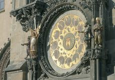 Astronomical Clock at Prague City Hall Stock Images