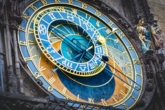 Astronomical clock in Prague. A close up shot of the Astronomical clock in Prague Royalty Free Stock Image
