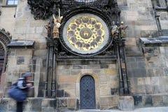 Astronomical clock in Prague, Czech republic Stock Photo