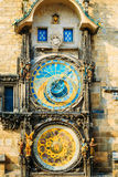 Astronomical Clock In Prague, Czech Republic. Close Up Photo Stock Photography