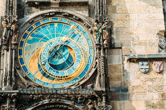 Astronomical Clock In Prague, Czech Republic. Close Up Photo Stock Images