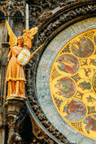 Astronomical Clock In Prague, Czech Republic. Close Up Photo Royalty Free Stock Photography