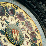 Astronomical Clock In Prague, Czech Republic. Close Up Toned Ins Stock Photography
