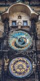 Astronomical Clock, Prague, Czech Republic. Detail from old clock tower in center of prague, capital of czech republic Stock Photos