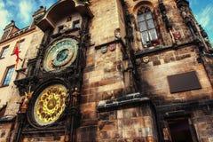 Astronomical clock in Prague, Czech Republic Europe Stock Image