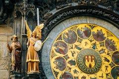 Astronomical Clock In Prague, Czech Republic Stock Images