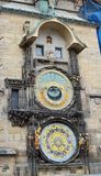 Astronomical clock in Prague, Czech Republic stock images