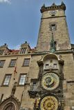 Astronomical Clock Prague daytime. Astronomical Clock tower Prague, Europe, daytime, the world most famous Medieval clock built in 1410 Royalty Free Stock Photography