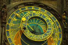 Astronomical clock in Prague Stock Photos