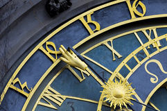 Astronomical clock in Prague Stock Photos