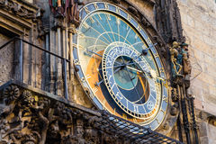 Astronomical clock in Prague Royalty Free Stock Photos