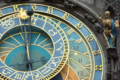 The Astronomical clock in Prague Royalty Free Stock Image