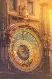 Astronomical Clock on Prague Old Town Square Royalty Free Stock Images