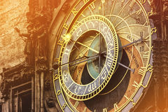 Astronomical Clock on Prague Old Town Square Stock Photo
