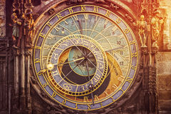 Astronomical Clock on Prague Old Town Square Stock Image