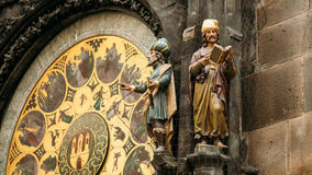 The astronomical clock, or Prague orloj is a Royalty Free Stock Image