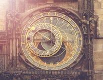 Astronomical Clock on Prague Stock Photography