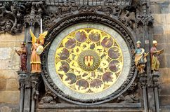 Astronomical clock in Prague. Zodiac signs. Stock Photo