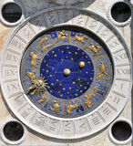 Astronomical clock. St Marks Clock is the clock housed in the St Marks Clocktower, on St Marks Square in Venice, Italy stock photo