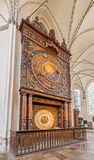 Astronomical clock in St. Mary's Church, Rostock Royalty Free Stock Images