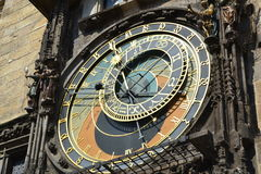 Astronomical clock in Staremesto Namesti in Prague Royalty Free Stock Photo