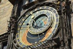Astronomical clock in Staremesto Namesti in Prague Royalty Free Stock Photo