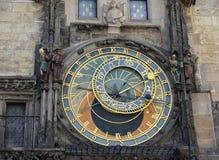 Astronomical clock on the Staromestsky town hall. Prague, Czech Republic. Astronomical clock on the Staromestsky town hall, the Prague chiming clock. Prague Stock Photos