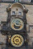 Astronomical clock on the Staromestsky town hall. Prague, Czech Republic Stock Photos