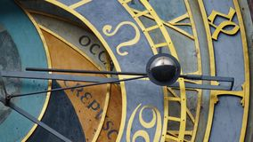 Astronomical Clock Tower detail in Old Town of Prague, Czech Republic. Astronomical clock was created in 1410 by the watchmaker Mi Royalty Free Stock Photos
