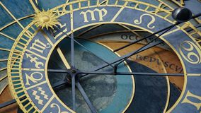 Astronomical Clock Tower detail in Old Town of Prague, Czech Republic. Astronomical clock was created in 1410 by the watchmaker Mi Royalty Free Stock Photo
