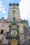 Astronomical Clock tower in old town Prague, Czech Republic Stock Photos