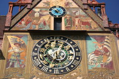 Astronomical clock, Ulm Stock Photos