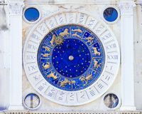 Astronomical clock in Venice, Italy.  royalty free stock photography