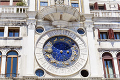 Astronomical clock, Venice , Italy Royalty Free Stock Images
